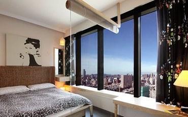 高雄酒店公寓住宿:85大楼绵羊海街景-古典赫本大床房