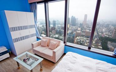 高雄酒店公寓住宿:85大楼绵羊海街景-雪梨星辰四人房