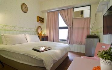 台中酒店公寓住宿:逢甲天空宿主題双人大床房