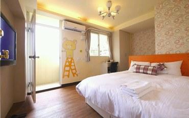 台中酒店公寓住宿:逢甲小棉花旅店A苹果房型双人大床房