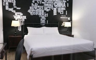台中酒店公寓住宿:逢甲旅行逗点民宿环游世界大床房