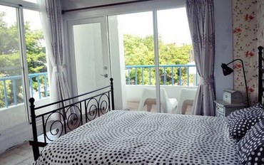 台东酒店公寓住宿:台东伊亚咖啡民宿希腊公主大床房