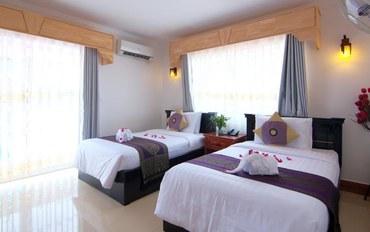 暹粒酒店公寓住宿:吴哥塔拉奇别墅酒店高级双床房带阳台