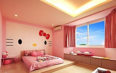 台南酒店公寓住宿:台南Dear蒂儿民宿粉红香恋二人大床房