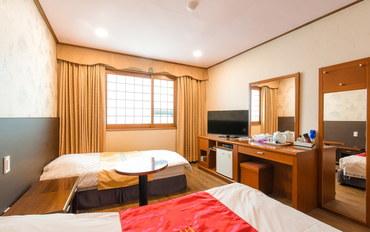 济州岛酒店公寓住宿:苹果酒店双床房