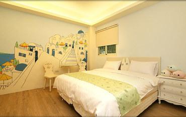 台东酒店公寓住宿:大仁哥民宿地中海大床房