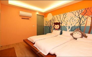 台东酒店公寓住宿:大仁哥民宿和风居三人房
