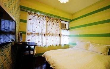 台中酒店公寓住宿:逢甲Enjoy发现幸福双人大床房