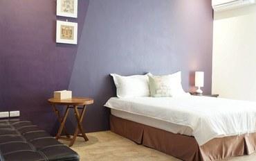 台南酒店公寓住宿:绿瓶子旅店双人大床房