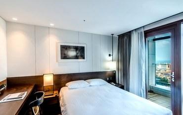 济州岛酒店公寓住宿:济州岛中心城市酒店豪华大床房