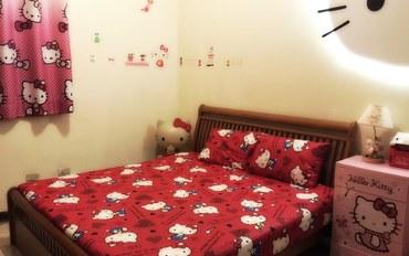 桃园酒店公寓住宿:杰仕堡民宿II中央大学分馆凯蒂猫主题套间