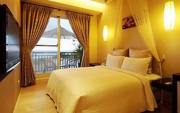 屏东(垦丁)酒店公寓住宿:金沙湾海景旅店面海两人房