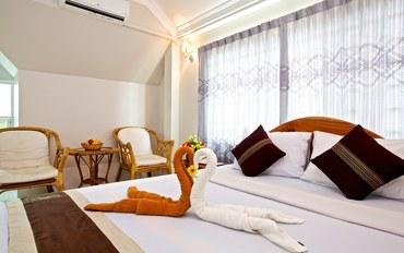 暹粒酒店公寓住宿:丹那客酒店标准大床房
