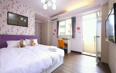 台中酒店公寓住宿:逢甲小棉花旅店B故事书房型双人大床房