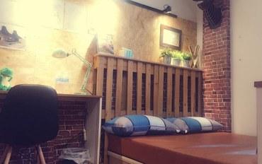 台南酒店公寓住宿:穆斯设计空间民宿温馨大床房