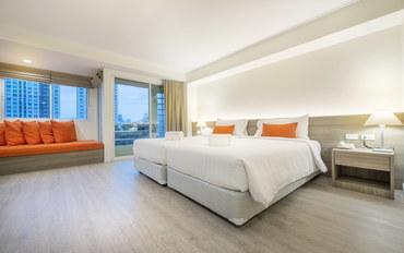 曼谷酒店公寓住宿:勒塔达住宅酒店豪华阳台双床间豪华大床或双