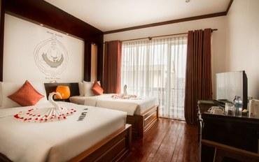 暹粒酒店公寓住宿:暹粒吴哥钻石精品酒店高级双床房