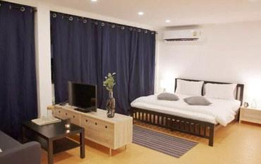 曼谷酒店公寓住宿:婴儿蓝精品民宿401独卫带厨房标准套房