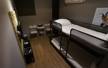新竹酒店公寓住宿:新竹卡乐家民宿青年双床房