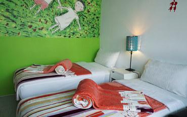 嘉义酒店公寓住宿:安兰居国际青年馆双人房