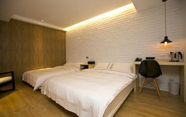 台北酒店公寓住宿:台北约克设计旅店北欧温馨4人房
