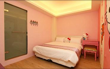 台东酒店公寓住宿:大仁哥民宿Kitty大床房