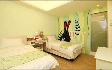 台东酒店公寓住宿:大仁哥民宿法国兔双床房
