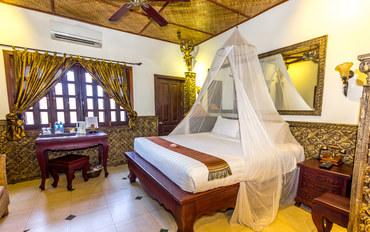暹粒酒店公寓住宿:暹粒大象阳台酒店与餐厅顶楼