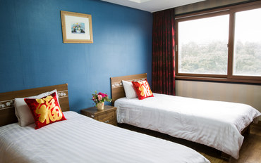 济州岛酒店公寓住宿:济州岛阿尔卑斯酒店双床房