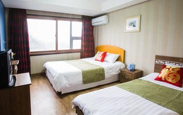 济州岛酒店公寓住宿:济州岛阿尔卑斯酒店大床房