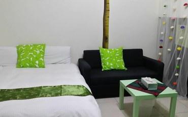 台中酒店公寓住宿:台中lisa小屋绿色二人大床房