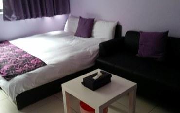 台中酒店公寓住宿:台中lisa小屋紫色二人大床房