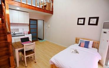 济州岛酒店公寓住宿:Sky Tary海景复式双人房