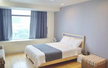 仁川酒店公寓住宿:仁川机场格哥旅馆 双人床房